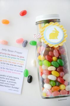 Easter Jelly Bean Prayer Envelopes - The Idea Room