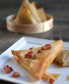Bricks de Camembert aux lardons