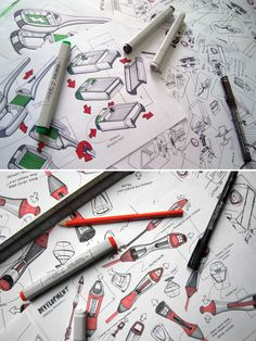 Nice way to show design sketches in a portfolio