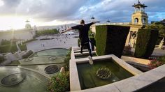 GoPro: Freerunning Barcelonas Palace Fountain Steps with Jason Paul