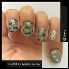 Instagram photo by: @NailArt_by_LadyBird Boutique  #veteransday #heroes #nails #nailart