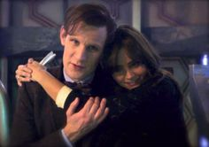 Matt Smith And Jenna Louise Coleman  (special scenes after regeneration filming)
