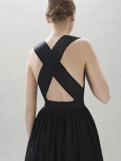 cross back black summer dress by cos stores curated by ajaedmond.com | capsule wardrobe | minimal chic | minimalist style | minimalist fashion | minimalist  wardrobe | back to basics fashion
