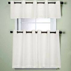 N Modern Sublte Textured Solid White Kitchen Tiered Valance New White Kitchen Curtains Review