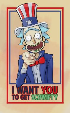 Rick wants you to get schwifty T-shirt Design. Order it here Uncle Rick Rick And Morty Poster, Get Schwifty, Uncle Rick, Animation, Fan Art, Cartoon Characters, Nerdy, Geek Stuff, Sketches