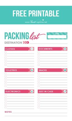 Free-printable-packing-list