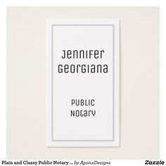 Notary Public Business Card   Notary Public Business Cards ...