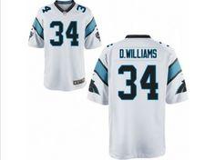 56317e1b nike carolina panthers 34 deangelo williams white game womens jersey