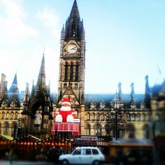 Alien Father Christmas in Albert Square, Manchester