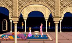 The Sultan's daughter, Prince of Persia (1989) #damselindistress #apple2 #broderbund #jordanmechner