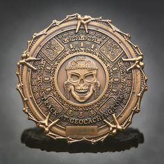 Pirate Bones Geocoin - Antique Gold Version - Geocaching | eBay