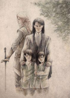 Maedhros, Maglor and Peredhil twins, by mauveshadow.tumblr.com