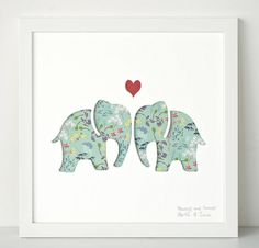 original ellys personalised wedding gift art by bertie & jack | notonthehighstreet.com