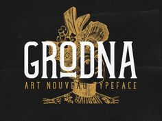 Grodna is a font inspired by the posters used in the beginning of the 1900`s in Oradea, which is considered to be the Center of art Nouveau .It is a tall, condensed sherif font with sharp brackets, short arms with a slight curve at the end. The bars are at a rising angle from left to right, and it h