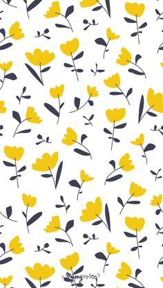 Calendrier Mars 2018 - March calendar - Goodies / fond d'écran smartphone to download on -  à télécharger sur www.mymyreloo.com - Imprimé floral - fleurs - boutons d'or - jaune moutarde