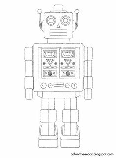 Robot coloring sheets - Robot kleurplaten