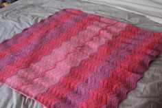Baby Ripple Chevron Afghan by TheEclecticStitch on Etsy,