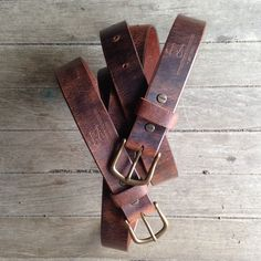 The Mixon Belt // Handcrafted In The Heartland by LM Products  Waxed and buffed leather, hand finished edges, and a removable brass buckle.  Rustic enough for jeans and a tee, classic enough to dress it up.