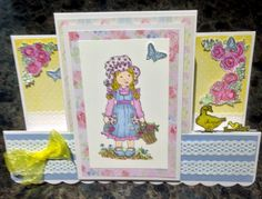 An easel card using some very sweet stamps.