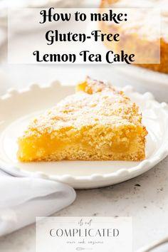 Gluten-Free Lemon Cake - Learn how to make this delicious Easy Gluten-Free Belgian Lemon Tea Cake. So simple to make, and e - Lemon Desserts, Lemon Recipes, Easy Cake Recipes, Cupcake Recipes, Fun Desserts, Sweet Recipes, Delicious Desserts, Dessert Recipes, Gluten Free Lemon Cake