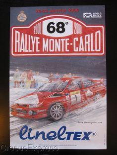 AFFICHE ORIGINALE ACM 68° RALLYE MONTE CARLO 2000 WRC fr.picclick.com