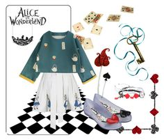 """Alice in Wonderland <3"" by aulyputri on Polyvore featuring Melissa and Disney"