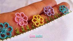 İğne Oyası Sık İğneli Çiçek Modeli Yapımı Türkçe Anlatımlı Videolu
