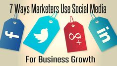 Social media is one of the most effective and efficient tools for marketing there is. Here are 7 ways that marketers are using social media for business growth these days. Marketing Process, Inbound Marketing, Marketing Digital, Content Marketing, Social Media Marketing, Business Marketing, Internet Marketing, Branding Digital, Best Time To Post