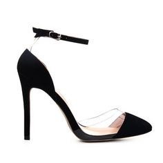 23e9561025d Black Leather Look Ankle Strap High Heels from mobile - US 37.95 -YOINS  Ankle Strap
