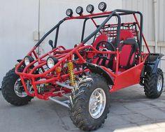 Regency SRB 800 2-Seat Power Buggy-Rail Style with Sun Shade, Top Lights, Shaft Driven, Custom Wheels