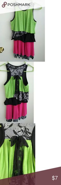 Funky Dress Bright colors and layers. It is pre owned and used often but still has life. Peaches & Cream Dresses Casual