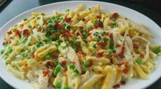 Spicy Cajun Pasta w/Garlic Cream Sauce