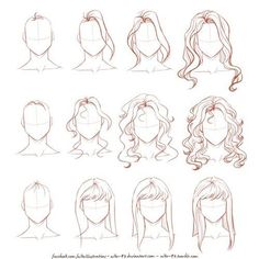 Immagine di drawing, draw, and hair