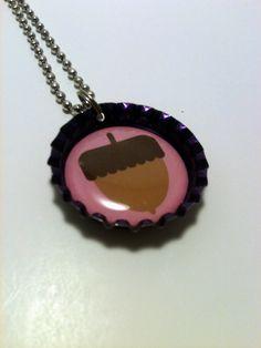 Acorn bottle cap necklace by LillypadPark on Etsy, $4.95