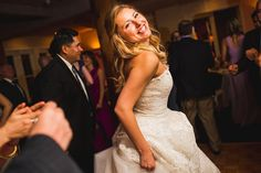 The bride's smile absolutely exudes happiness. Wedding Photographer: Deborah Coleman Photography