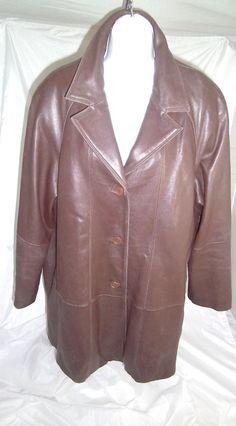 TIBOA Leathers Extra Large Leather Jacket Womens' XL Brown  #TiboaLeathers #BasicJacket