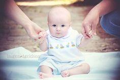 3 month baby picture ideas | month baby photo ideas. Unique three month photos. Lauren Davidson ...
