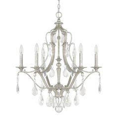 """Capital Lighting 4186-CR Blakely 6 Light 28"""" Wide Chandelier Antique Silver Indoor Lighting Chandeliers"""