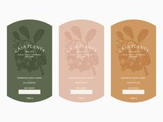 Part of the brand identity suite for Casa Planta, a vegan cheese brand based in Panama. All the labels feature botanical illustrations, hand-drawn by myself to mirror that classic etching style. Design Poster, Label Design, Logo Design, Graphic Design, Brand Identity Design, Package Design, Design Design, Jar Packaging, Brand Packaging