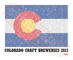 Colorado Craft Breweries Poster