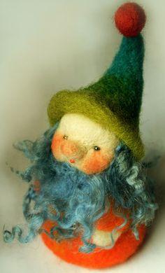 Wichtel, Zwerg, Troll - Fingerpuppe von Zauberland auf DaWanda.com