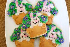 Bunny Cookies on Etsy, $42.00