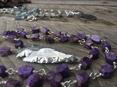 A personal favourite from my Etsy shop https://www.etsy.com/au/listing/529026255/russian-faceted-charoite-beaded-necklace