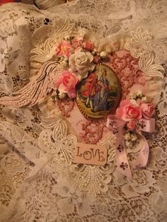 Shabby Chic Wall Hanging http://www.angeldreamcrafts.blogspot.ca