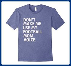 Mens Funny Saying Football Mom T-Shirt Football Player Shirt Medium Heather Blue - Sports shirts (*Amazon Partner-Link)