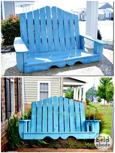 Pallet Swing - Pallet Projects - 150 Easy Ways to Build Pallet Projects - DIY & Crafts