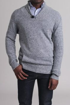 Civil Society Stewart Sweater With Nautical Collar and Elbow Patches