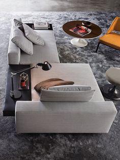 Sofá multifuncional, perfecto para espacios abiertos y para ser el centro del salón