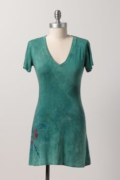 Bamboo; Emerald Water Dragonfly Tunic