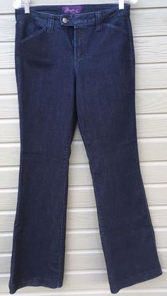 Not Your Daughters Jeans Woman's Trouser Dark Wash Straight Leg Lift Tuck Sz 6 #NotYourDaughtersJeans #StraightLeg